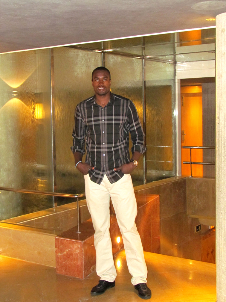 Serge Ibaka at the Claris Hotel