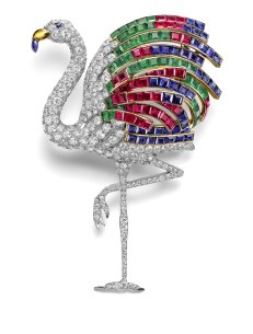 The flamingo shaped brooch of the Duchess of Windsor