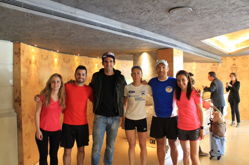Josef Ajram and our runners!