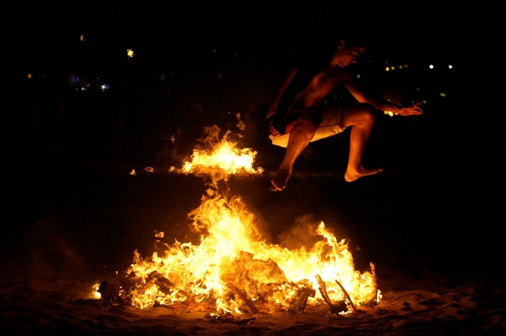 Jumping a bonfire is a sign of purification