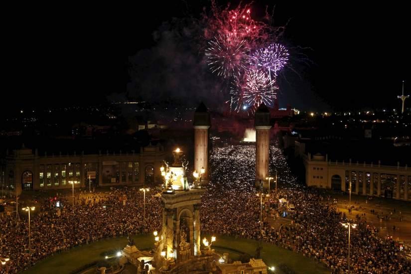Fireworks at Montjuïc