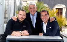 Aurelio Morales, Jordi clos y Joaquim Clos - New menu at La Terraza del Claris