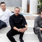 Daniel del Val, Aurelio Morales y Daniel Hernandez - New menu at La Terraza del Claris