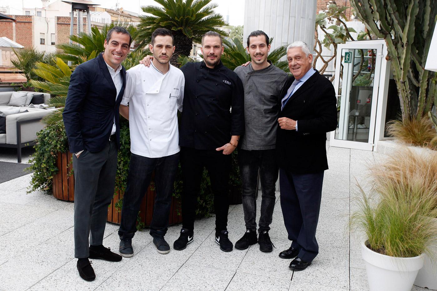 Joaquim Clos, Jordi Clos, Daniel del Val, Aurelio Morales y Daniel Hernandez - New menu at La Terraza del Claris