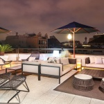 Claris Hotel, terraces in Barcelona