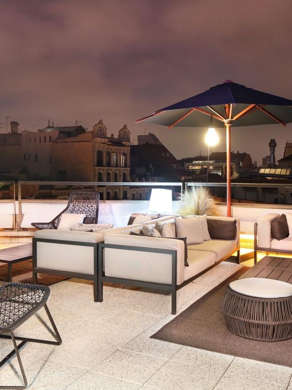 Claris Hotel, terraces in Barcelona