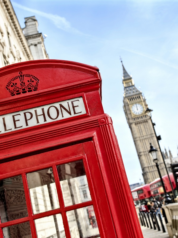 Phone Booth and Big Ben - London