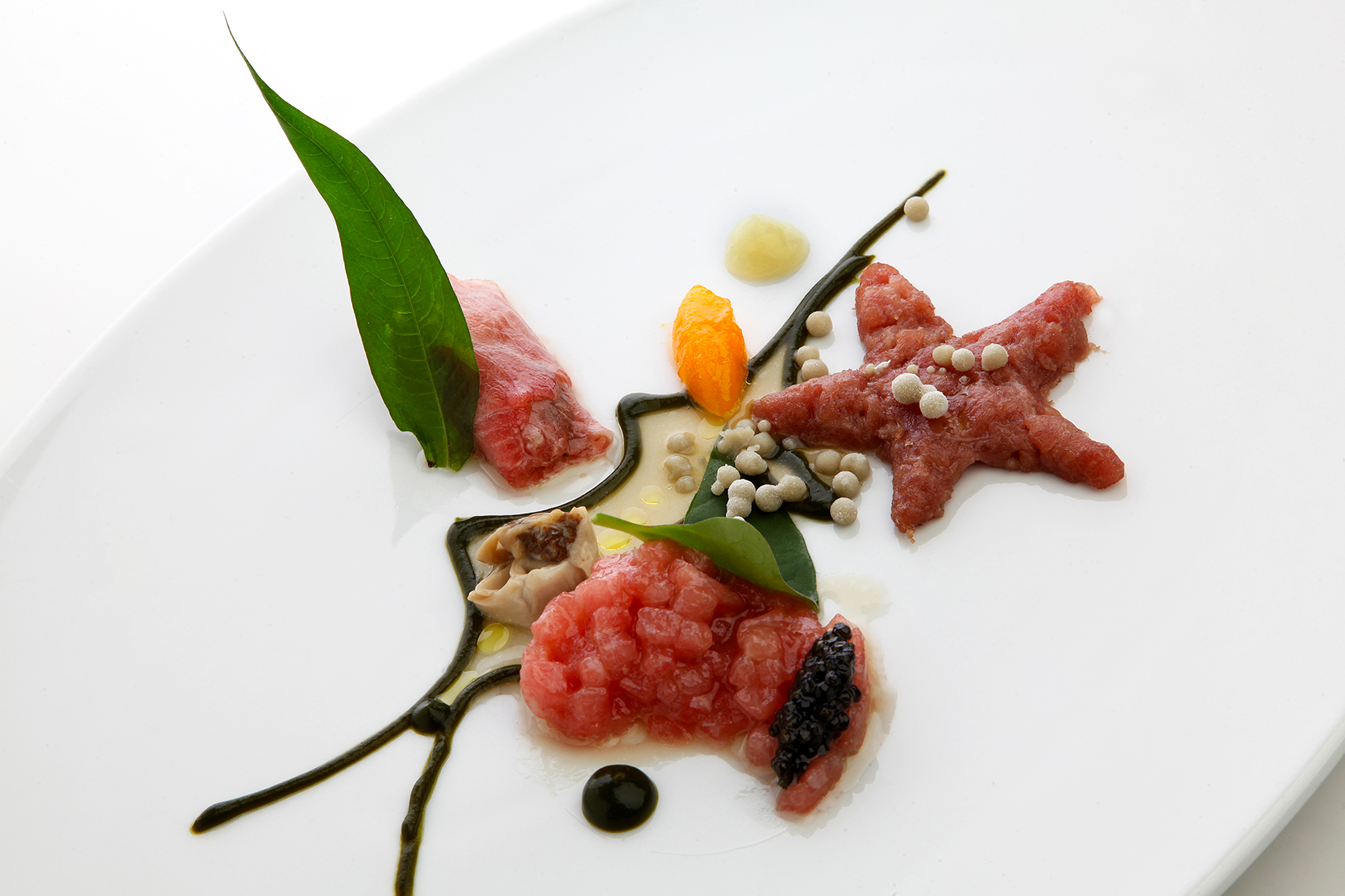 Tuna Belly, Oysters and Caviar - CEBO Restaurant