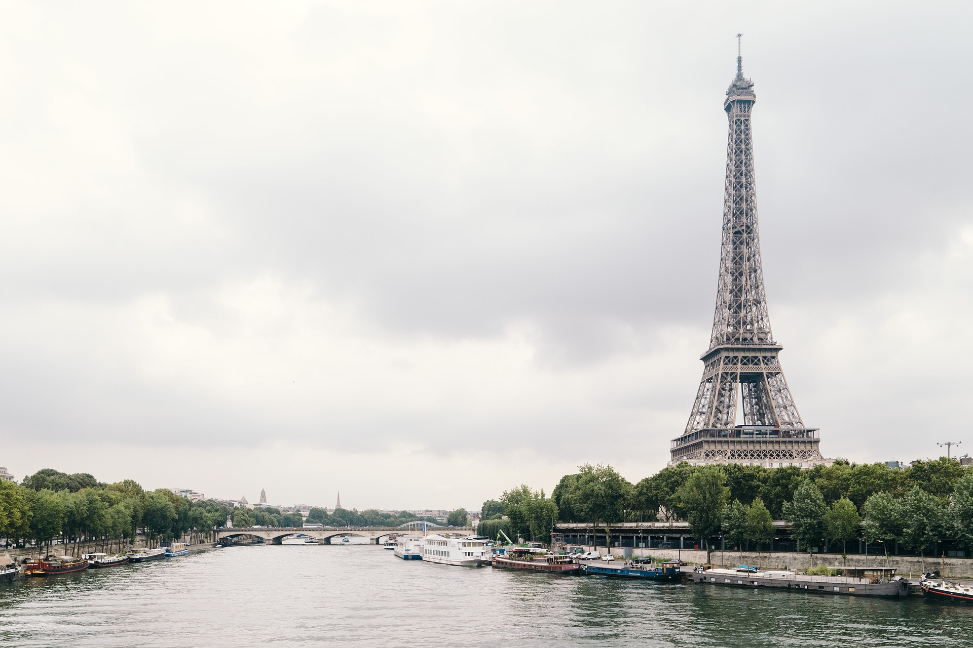 Seine River and Eiffel Tower in Paris