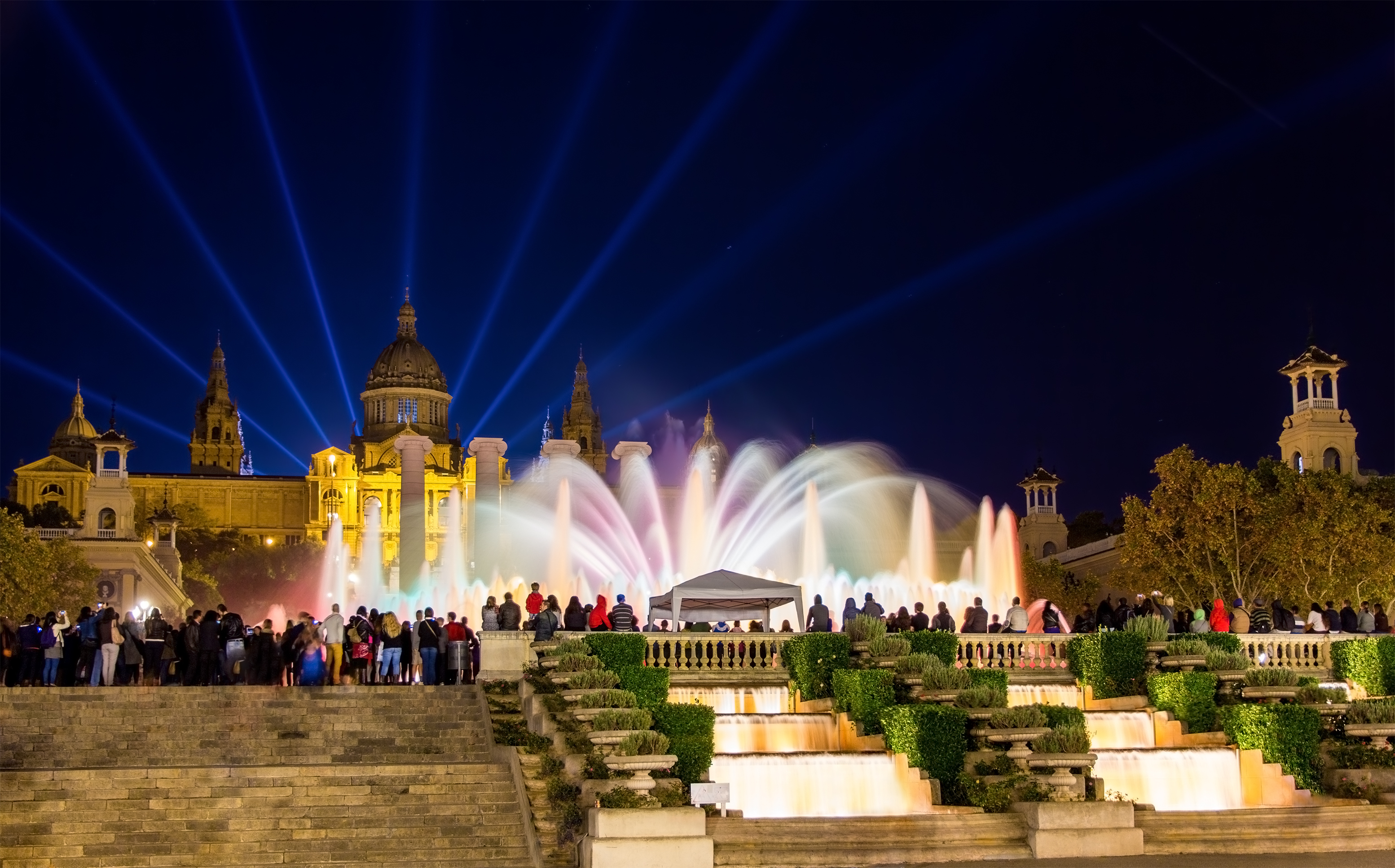 The Magic Fountain of Montjuic in Barcelona, Spain