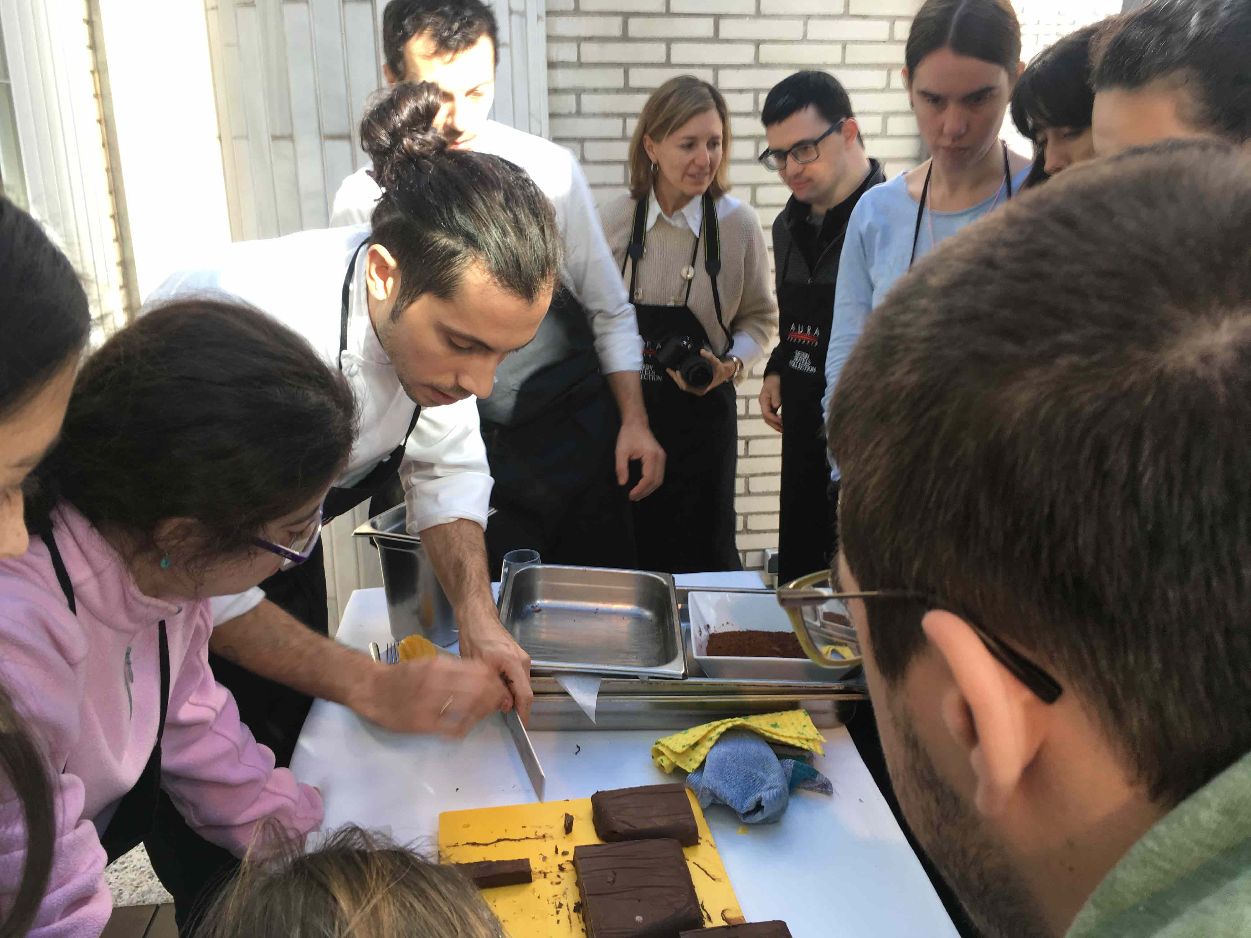 Showcooking at Hotel Claris with Daniel Hernández and Michele Camolei