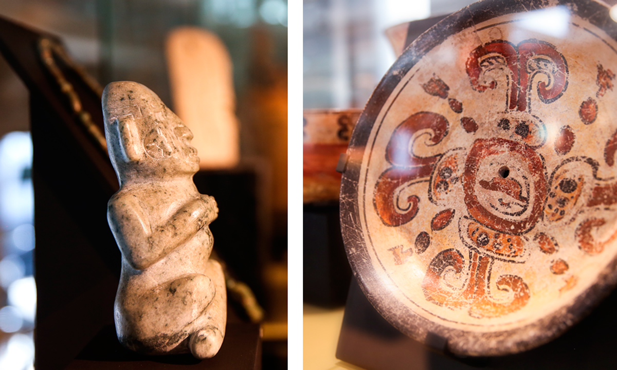 Mayan Art Pieces - Hotel Claris