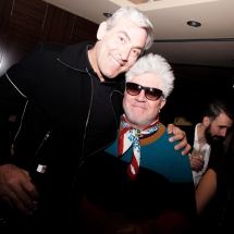 Pedro Almodovar and husband