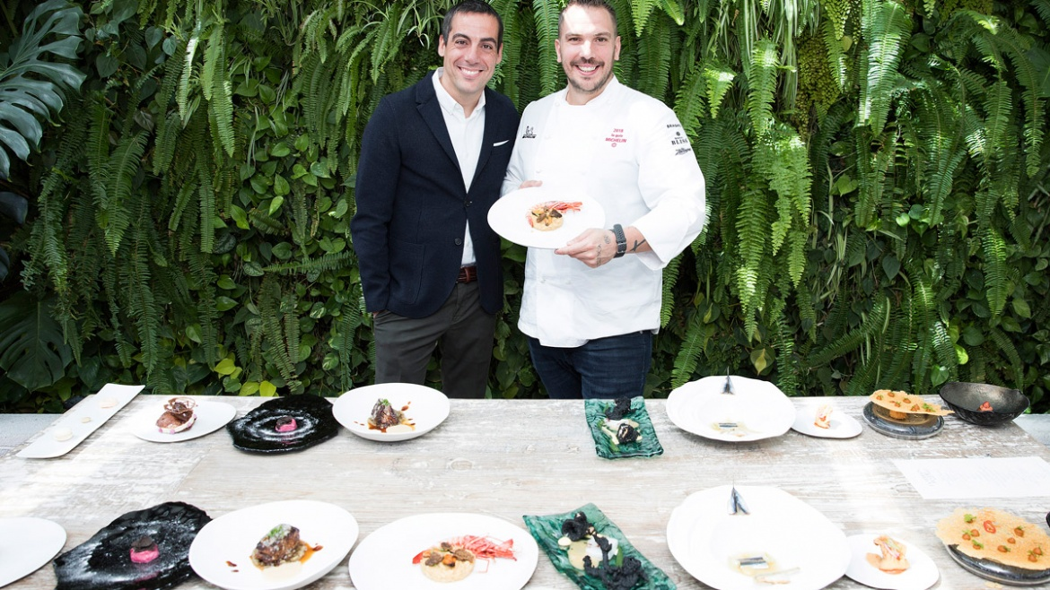 Joaquim Clos and Aurelio Morales at La Terraza del Claris