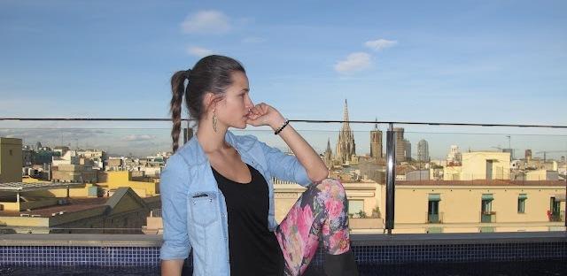 Malena Costa en el hotel Bagués