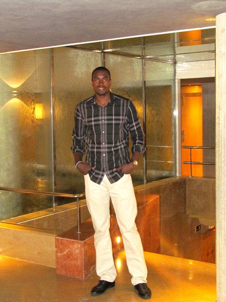 Serge Ibaka en el Hotel Claris