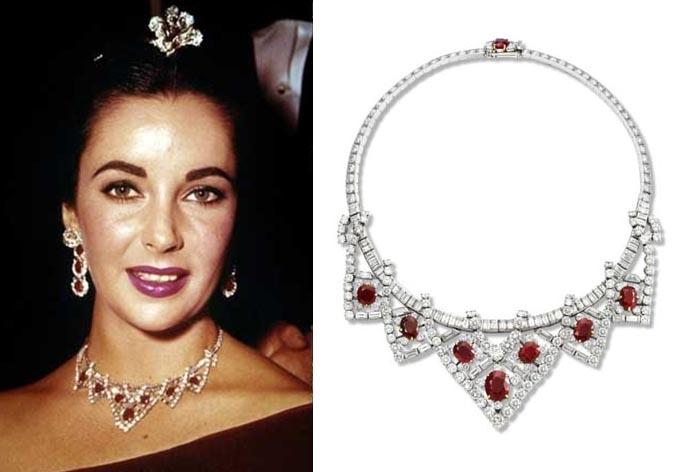Collar de rubíes y diamantes de Elisabeth Taylor