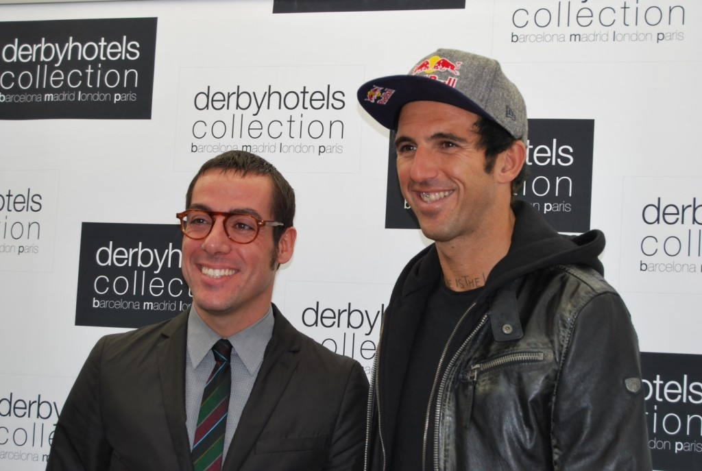 Josef Ajram y el director general de Derby Hotels Collection