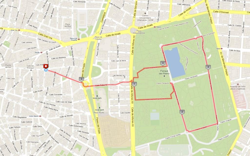 Ruta para principiantes Madrid