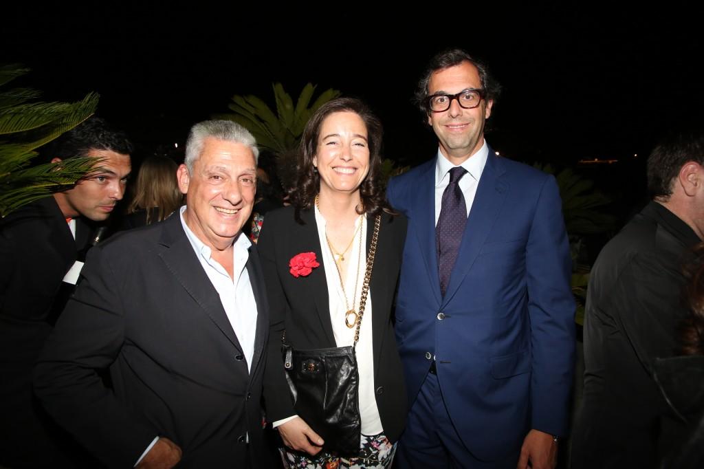 El Sr. Clos acompañado de Lluís Sans, de Santa Eulalia, y su mujer