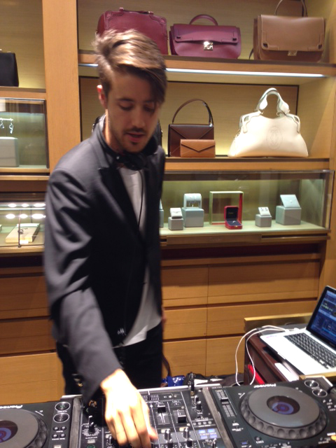 Pascal Moscheni en la fiesta de Cartier