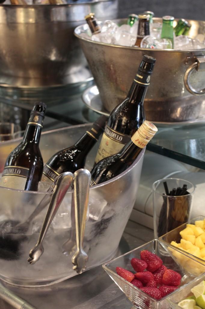 Preparación de los nuevos cócteles con vinos de Jerez
