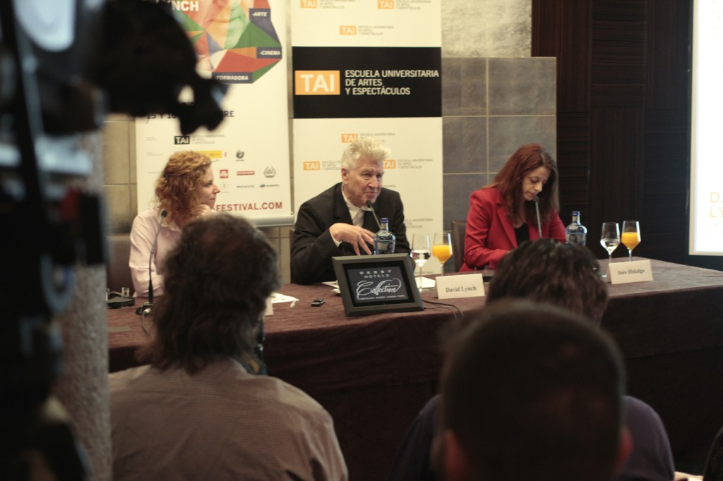 David Lynch en la rueda de prensa
