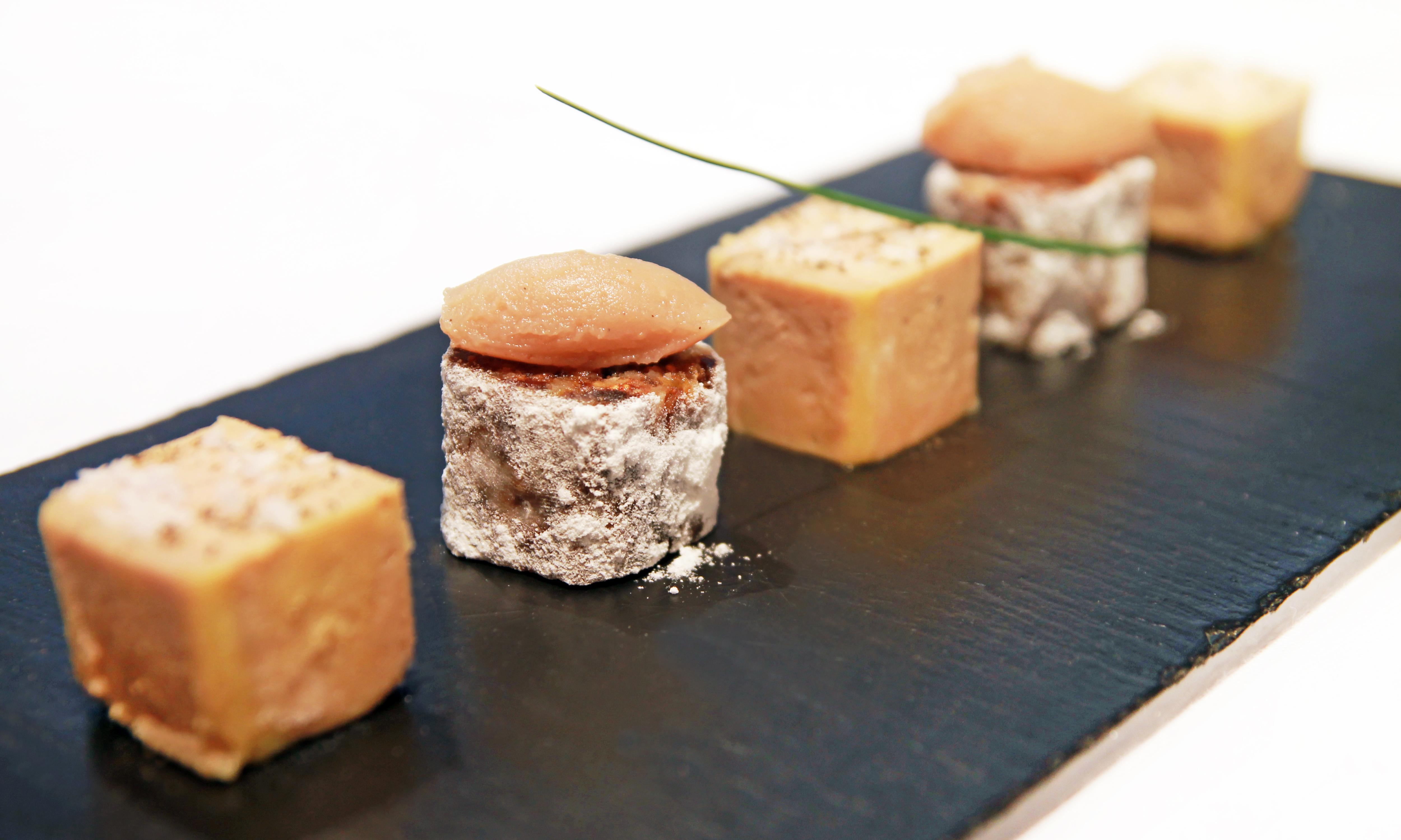 Granados 3 foie gras micuit con compota de castanas y pan de higos