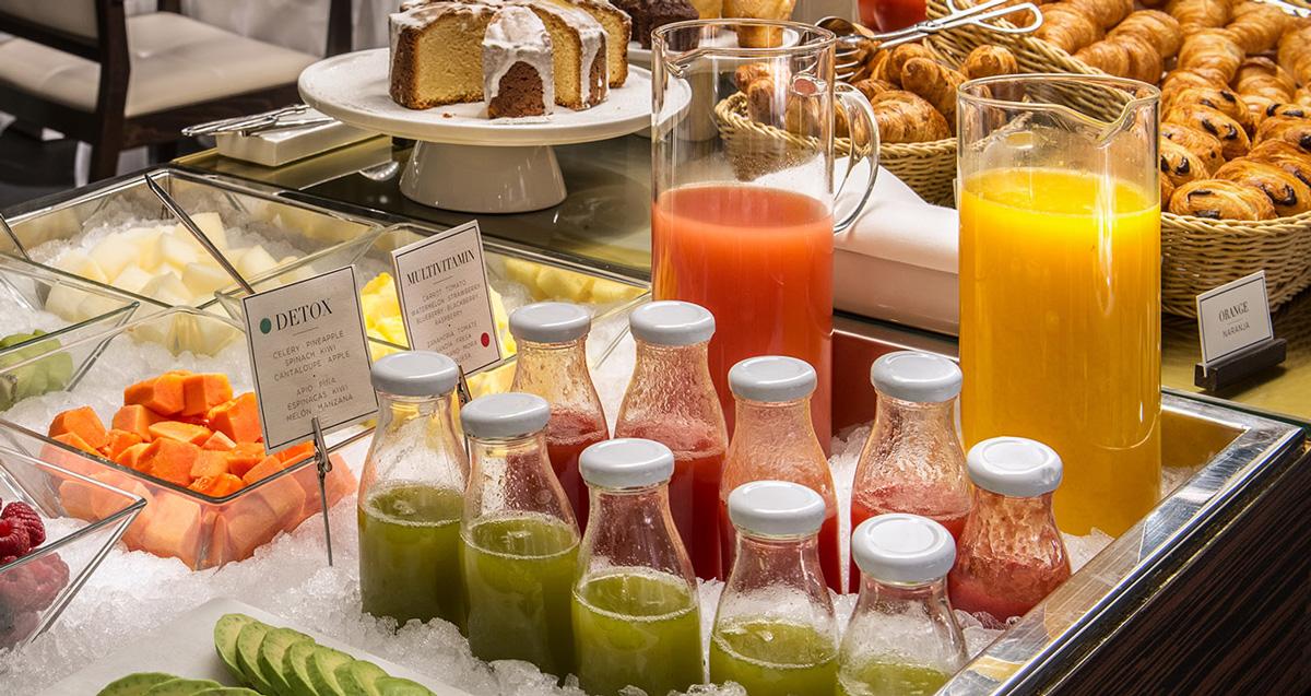 Zumos detox - Desayuno saludable Hotel Urban