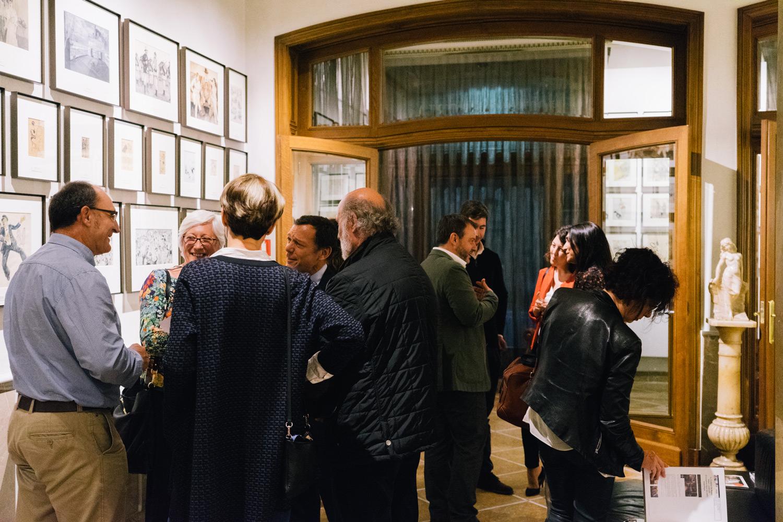 Invitados a la exposición en el Hotel Astoria