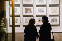 Invitados en la exposición de arte costumbrista Hotel Astoria