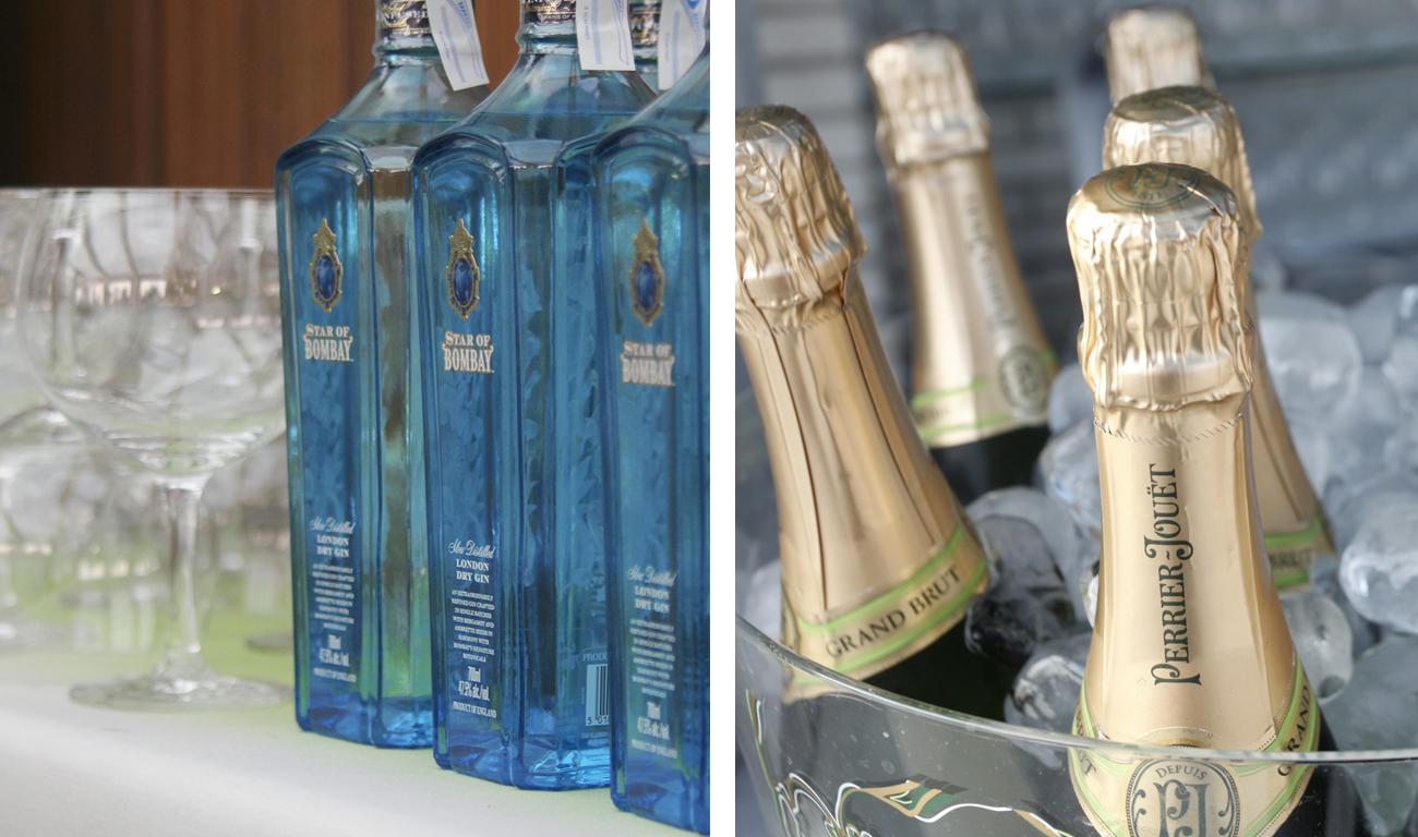 Gin tonicc y Perrier-Jouët