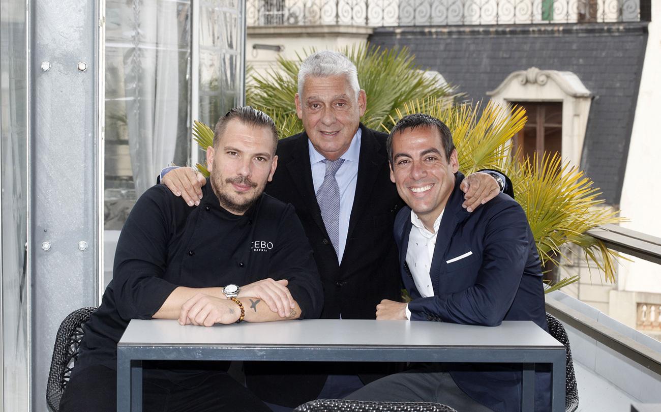 Aurelio Morales, Joaquim Clos y Jordi Clos