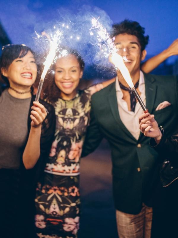 Celebración de Fin de Año con amigos
