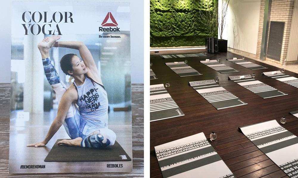 Sala Garden y Cartel de Yoga con Reebok y Xuan Lan