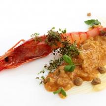 Baleares - Arròs brut de sobrasada ibérica D.O. y crustáceos de Mallorca con mahonesa