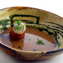 Asturias - Croqueta asturiana de leche fresca, compango y almeja fina