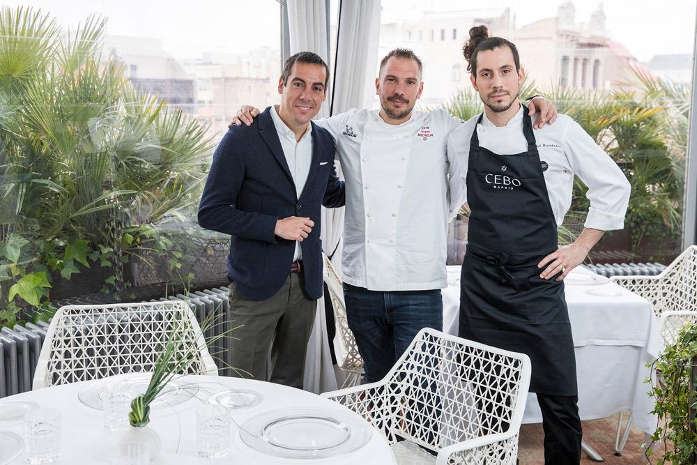 Aurelio Morales, Joaquim Clos y Daniel Hernandez