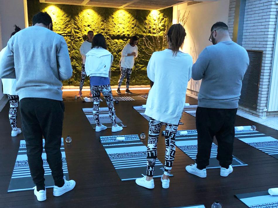 Yoga class with Xuan Lan